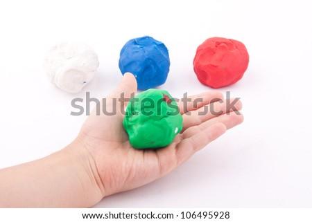 plasticine - stock photo