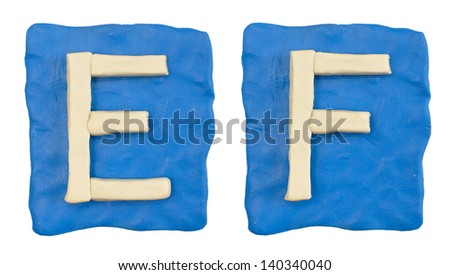 plasticine letter isolated on a white background - stock photo