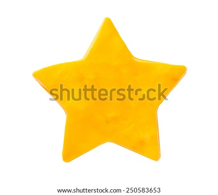 Plasticine star isolated on white background