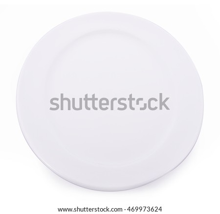 Plate circle clean on white background
