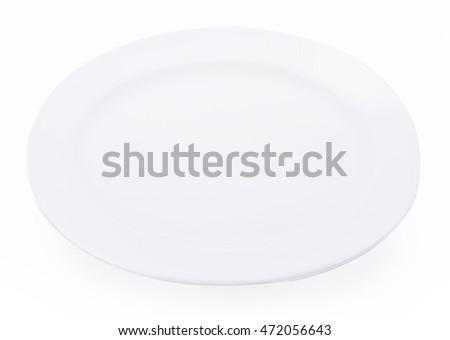Plate  empty isolated on white background
