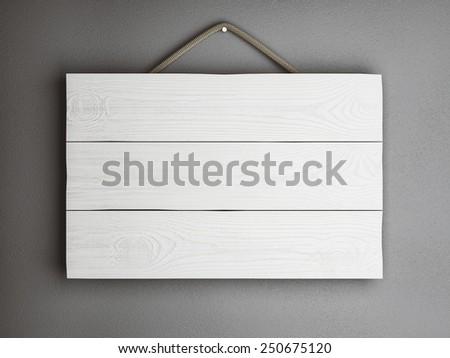 plate frame of three white wooden planks