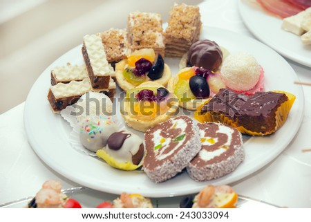 Plate full of an assortment of cookies