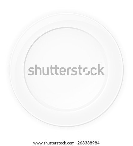 plate illustration isolated on white background