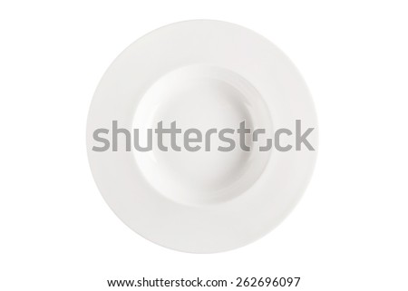 Plate isolated on white.