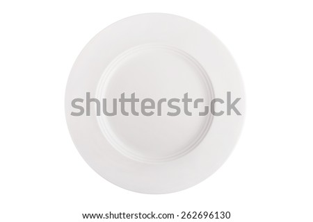 Plate isolated on white. - stock photo