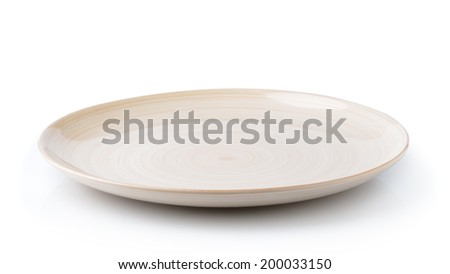 plate isolated on white background - stock photo