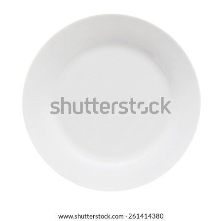 Plate isolated on white background