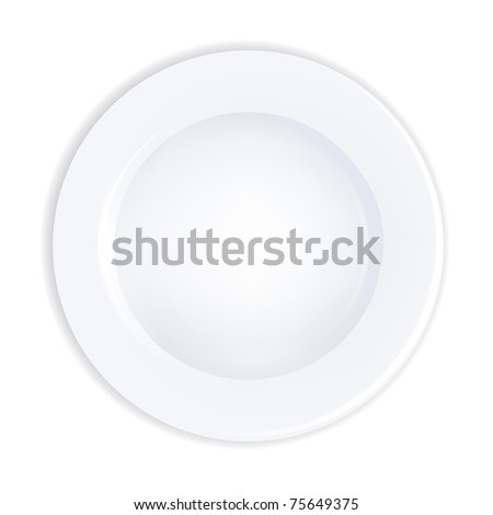 Plate, Isolated On White Background