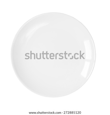 Plate isolated on white background. This has clipping path.