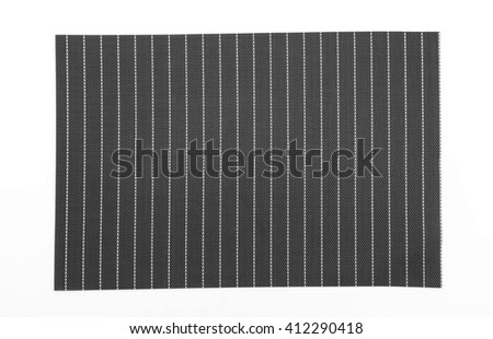 plate mat on white background - stock photo
