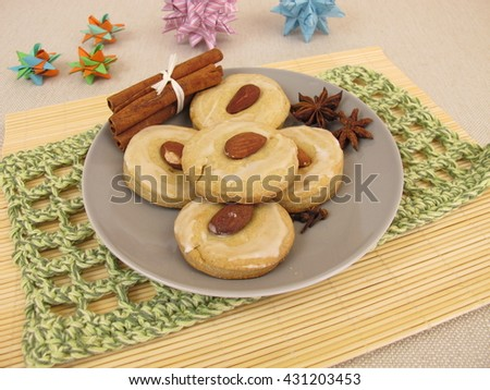 Plate of gingerbread biscuits