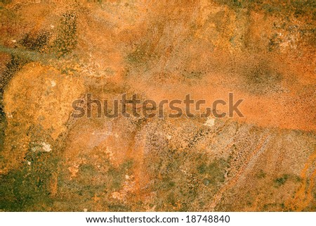 Plate of metal rusty on all background