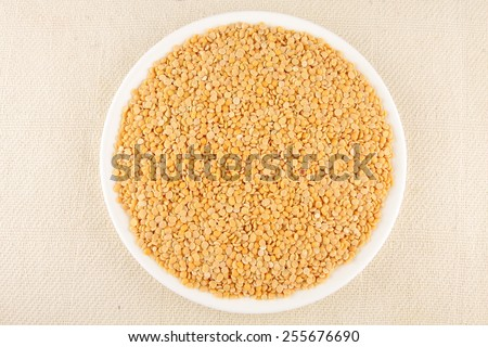 Plate of Toor dal, .Selective focus. - stock photo