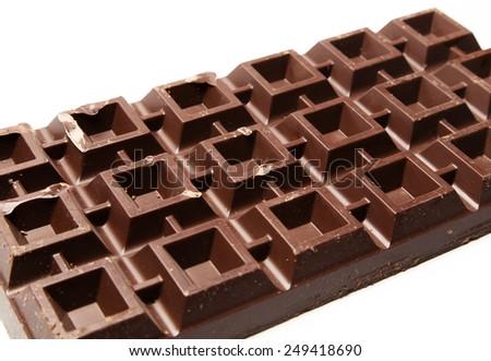 Plate of vegan chocolate - stock photo