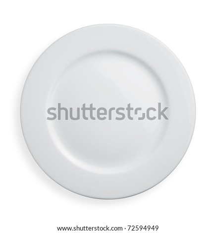 Plate on white background - stock photo