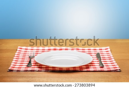 Plate, poster, cafe.
