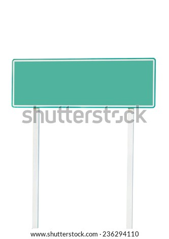Plate signs on white background