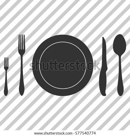 Plate spoon knife and fork