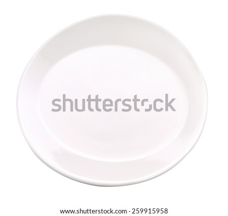 Plate  white empty isolated with white on background