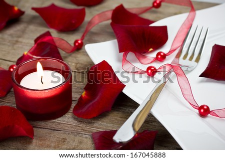 plate with roses  - stock photo