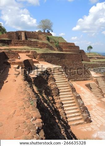 Plateau of Sigiriya, Sri-Lanka - stock photo