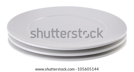 plates on the white background