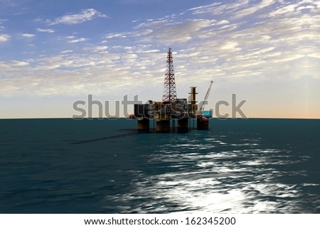 platform in the ocean for oil production