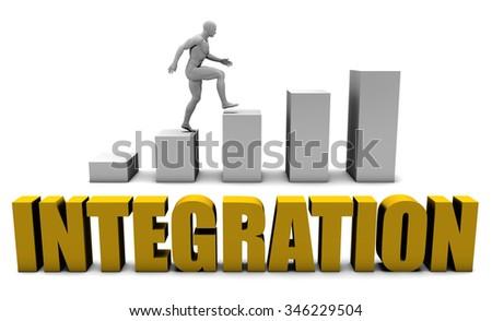 Platform Integration  or Business Process as Concept - stock photo