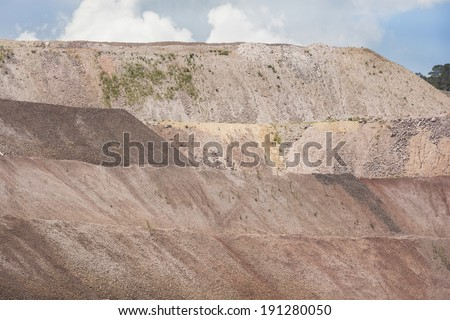 Platform mine Dug levels or platforms of an open-pit mine where several precious metals can be found.  - stock photo