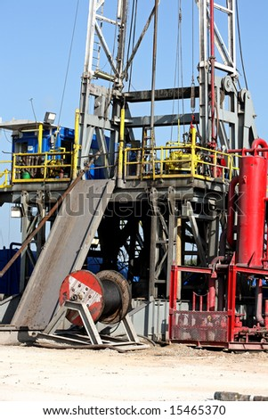 Platform on a drilling rig - stock photo
