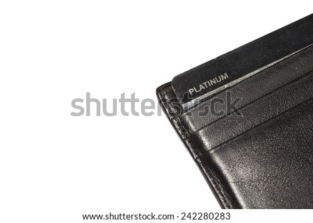 platinum credit card in wallet