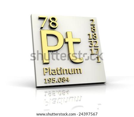 Platinum form Periodic Table of Elements - stock photo