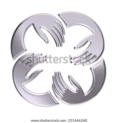 Platinum Hands Family group - stock photo