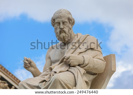Plato,ancient greek philosopher  - stock photo