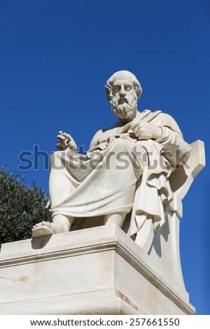 Plato,ancient greek philosopher - stock photo