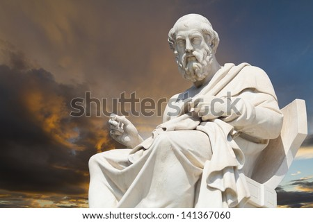 Plato, classical Greek Athenian philosopher - stock photo
