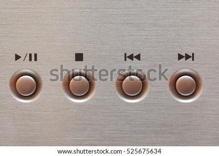 Play and Pause button of a CD player