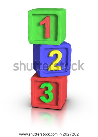 Play Block: Numbers - stock photo