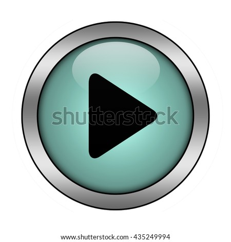 Play button isolated - stock photo