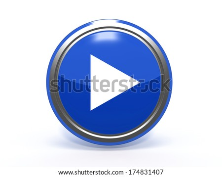 play circular icon on white background