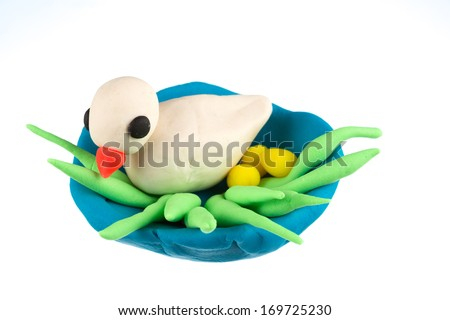 Play dough animal - stock photo