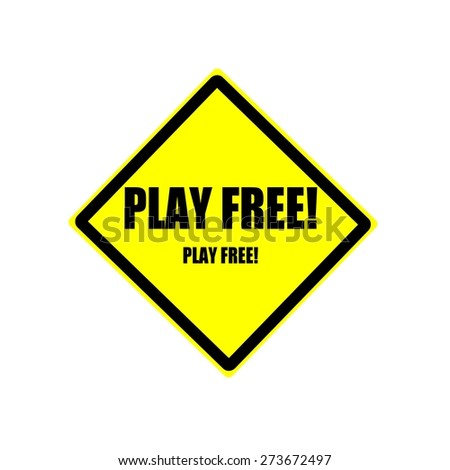 Play free black stamp text on yellow backgroud