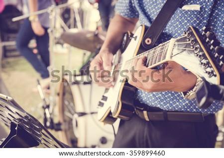 play guitar - stock photo