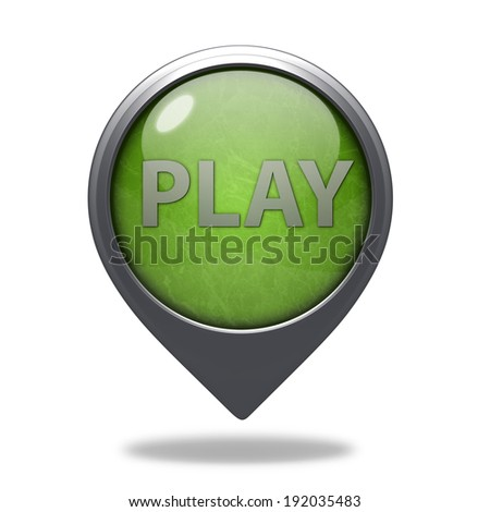 play pointer icon on white background