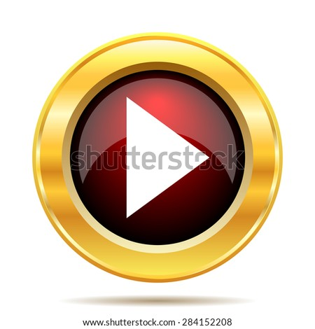 Play sign icon. Internet button on white background.