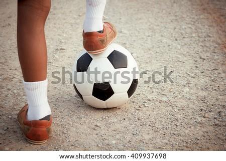 Play soccer. - stock photo