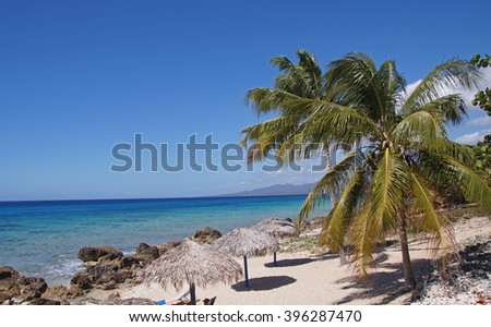 Playa Ancon which is a beautiful white sandy beach south of Trinidad in Cuba