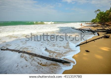 Playa Bluff in Bocas Del Toro - stock photo