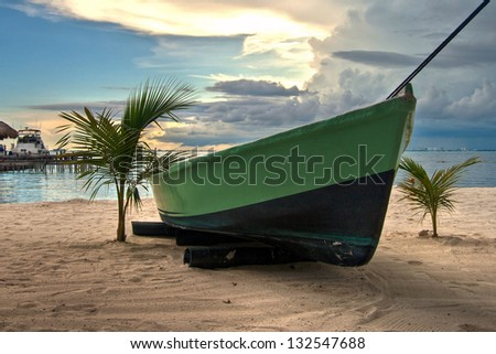 Playa de Islas Mujeres - stock photo